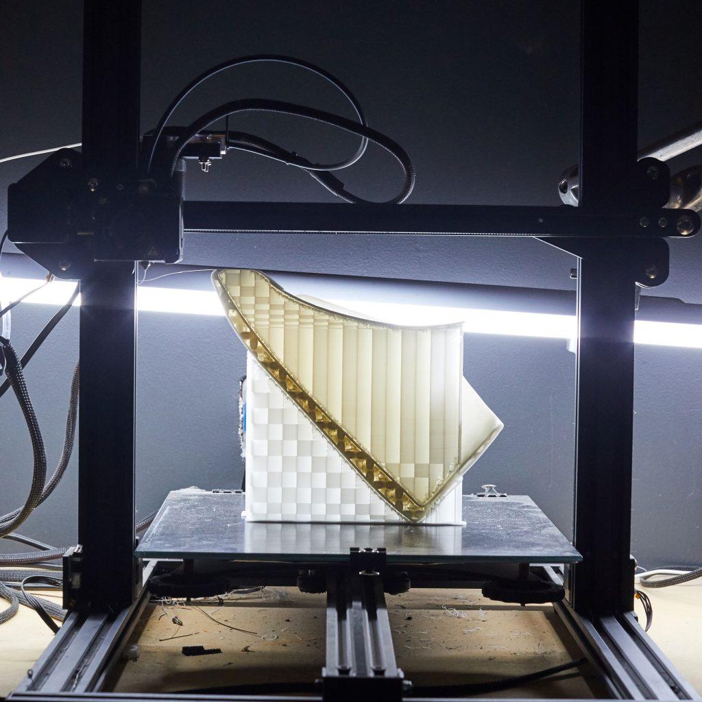 FDM 3D printing. Fused Deposition Modeling, FDM